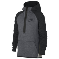 Nike Tech Fleece Half-Zip Pullover Hoodie - Boys\u0027 Grade School - Grey /
