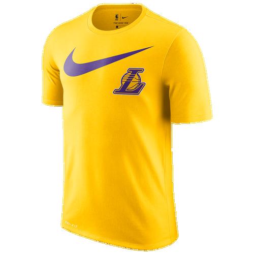 nike nba swoosh team logo t shirt men 39 s clothing los. Black Bedroom Furniture Sets. Home Design Ideas