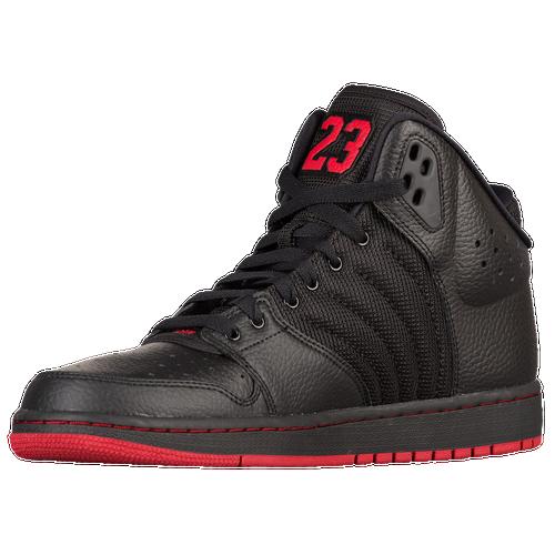 Mens Air Jordan Flight Team Black Red shoes