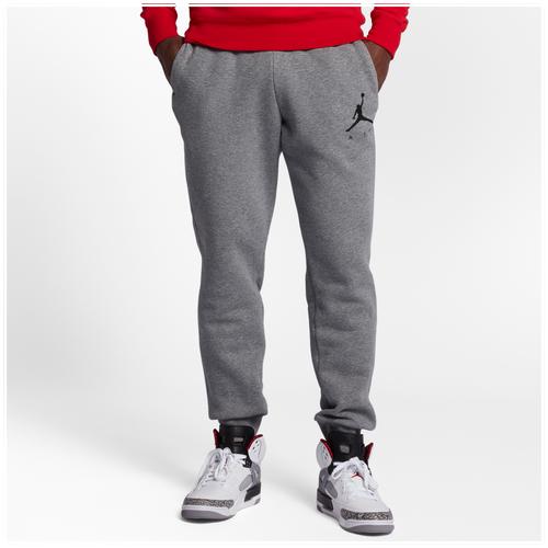 Jordan Jumpman Air Graphic Fleece Pants - Men's - Basketball - Clothing -  Carbon Heather/Black