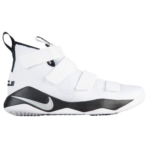 Nike LeBron Soldier 11 - Men\u0027s - Basketball - Shoes - James, Lebron - White/Metallic  Silver/Black