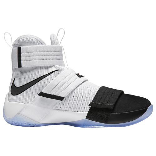83333a42766a durable modeling Nike LeBron Soldier 10 Mens Basketball Shoes James LeBron  White Black Black