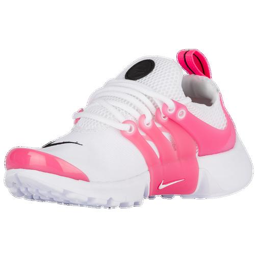 498c737e47d0 durable service Nike Presto Girls Preschool Running Shoes White Black Hyper  Pink