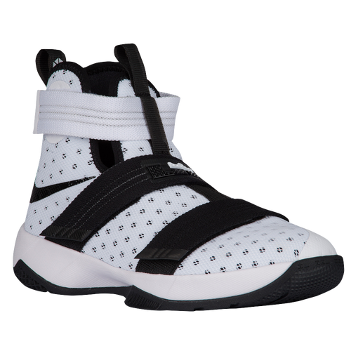 22c40fed28bc ... where to buy nike lebron soldier 10 boys grade school basketball shoes  james lebron white black