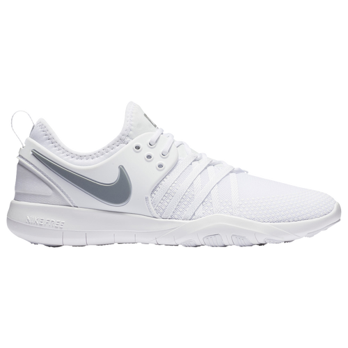 Nike Free TR 7 Womens Training Shoes White Metallic Silver on sale ... f718afe6d