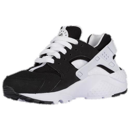 13058dd5fe41 lovely Nike Huarache Run Boys Grade School Running Shoes Black White ...
