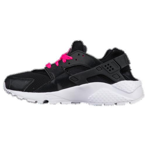 the best attitude 40c73 e9f56 hot sale Nike Huarache Run Girls Grade School Running Shoes  Black White Pink Blast
