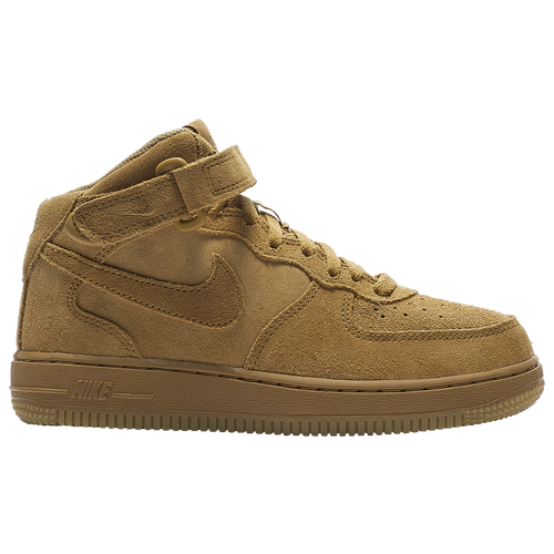 info for 20dee 1715c Nike Air Force 1 Mid - Boys  Preschool - Basketball - Shoes - Wheat Gum