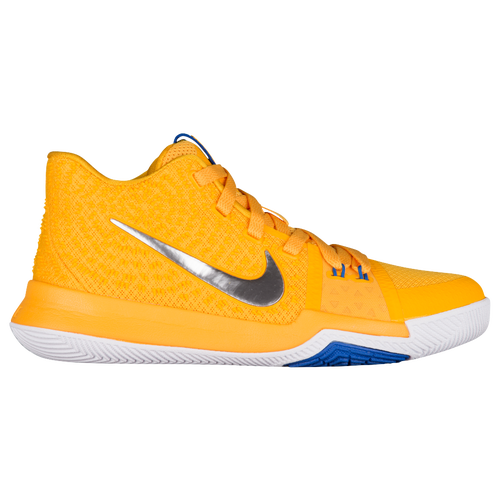 the latest c3aff b26c7 ... switzerland nike kyrie 3 boys grade school basketball shoes irving kyrie  uni gold chrome white game ...