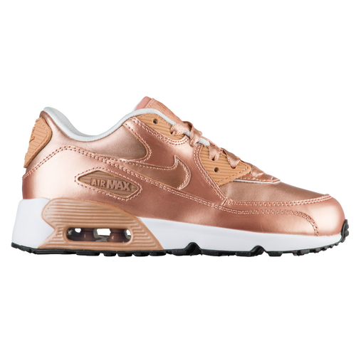 new style ee142 cfe39 85%OFF Nike Air Max 90 Girls Toddler Running Shoes Metallic Red Bronze  Metallic