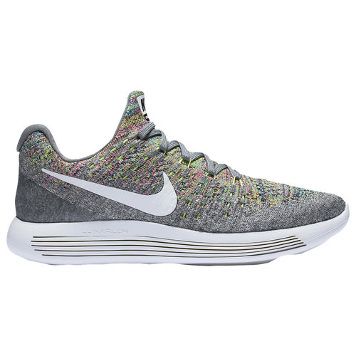 7491bf287d95 50%OFF Nike Lunarepic Low Flyknit 2 Womens Running Shoes Cool Grey White
