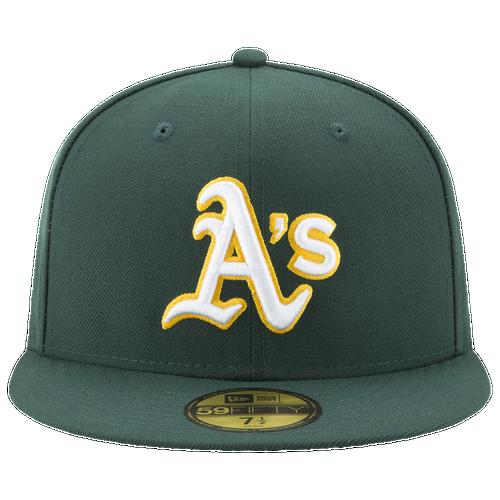 low-cost New Era MLB 59Fifty Authentic Cap Mens Accessories Oakland  Athletics Green 8b6a15339