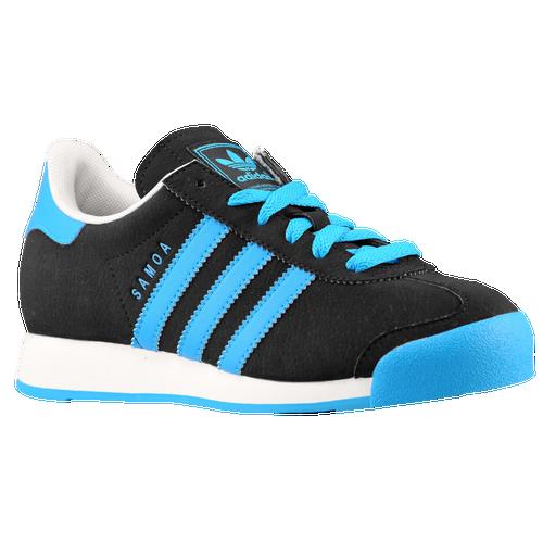 on sale adidas Originals Samoa Boys Grade School Training Shoes Black Solar  Blue Running 606ca99444