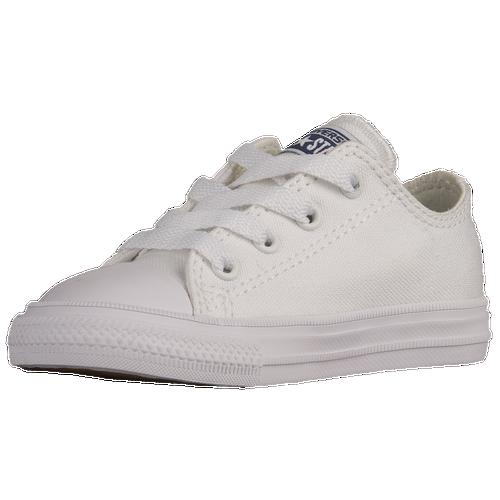 lovely Converse Chuck Taylor II Ox Boys Toddler Basketball Shoes White c4ec537051