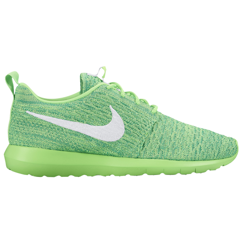 aa430d82313 new Nike Roshe Flyknit Mens Running Shoes Voltage Green Lucid Green White