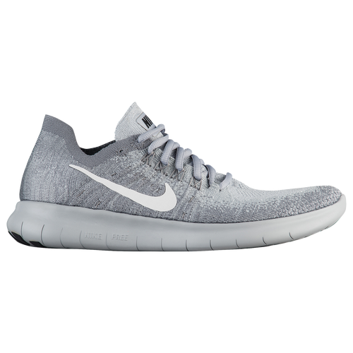 pink and gray nike free flyknit
