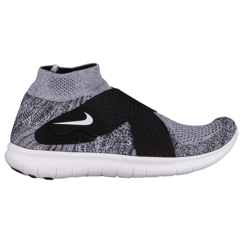 more photos 76a1e dffe6 ... real nike free rn motion flyknit 2017 mens running shoes black white  pure platinum wolf grey