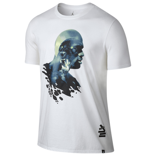c300a1ff628d9a Jordan Retro 13 Black Cat TShirt Mens Basketball Clothing White Black new