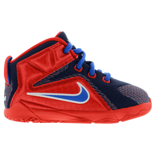 ac900d98f7a 60%OFF Nike LeBron 12 Boys Toddler Basketball Shoes James LeBron University  Red Midnight Navy