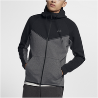 Nike Tech Fleece Colorblocked Windrunner - Men's - Black / Grey