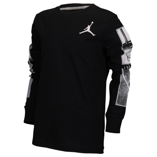 jordan long sleeve shirt. jordan legacy long sleeve t-shirt - boys\u0027 grade school basketball clothing black/dark grey/white shirt
