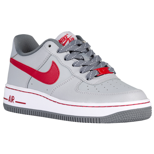 efaf553c695b8 new Nike Air Force 1 Low Boys Preschool Basketball Shoes Wolf Grey Gym Red  Cool Grey