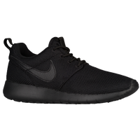 solid black nike shoes kids 925070