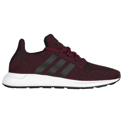 adidas Originals Swift Run - Boys' Grade School - Casual - Shoes - Maroon/Solid Grey/White/Med Grey Heather