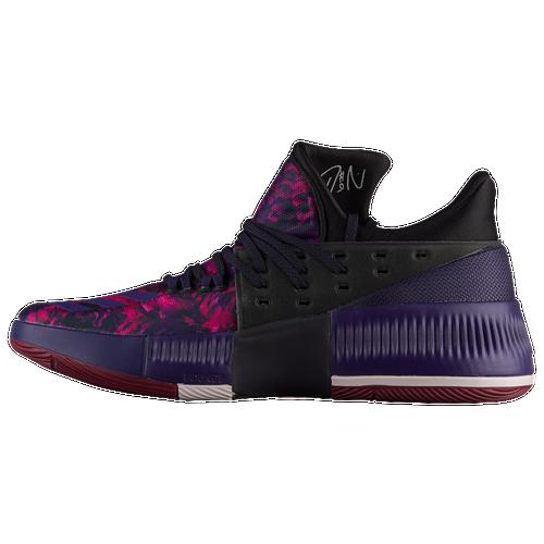 check out 2950a 1d395 ... cheap adidas dame 3 mens basketball shoes lillard damian black purple  burgundy 1fd63 4e332