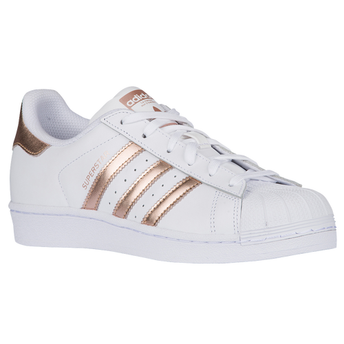 adidas Originals Superstar - Women's - Casual - Shoes - White/Copper Metallic/White