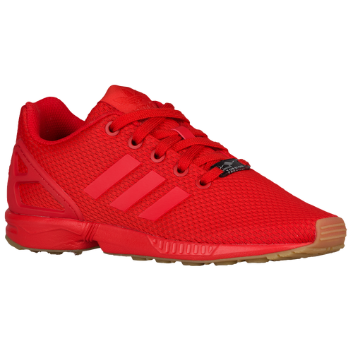 1a076c917 on sale adidas Originals ZX Flux Boys Grade School Running Shoes Red Red Gum