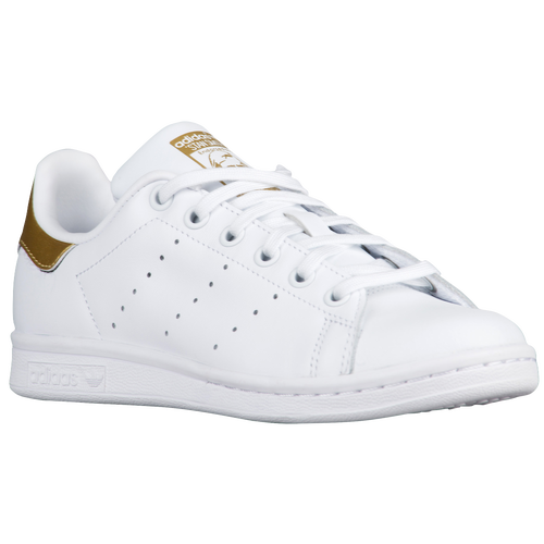 adidas Originals Boys Grade School Stan Smith - White/White/Gold Metallic