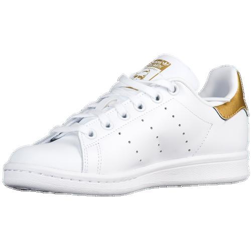 adidas Originals Stan Smith - Boys\u0027 Preschool - Casual - Shoes - White/White/Gold  Metallic