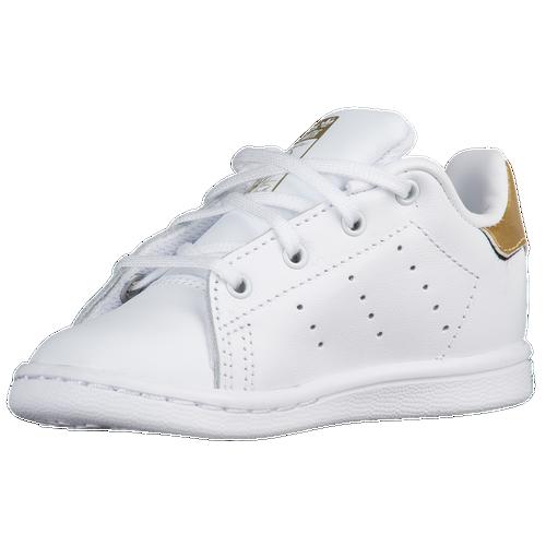 adidas Originals Stan Smith - Boys\u0027 Toddler - Casual - Shoes -  White/White/Gold Metallic