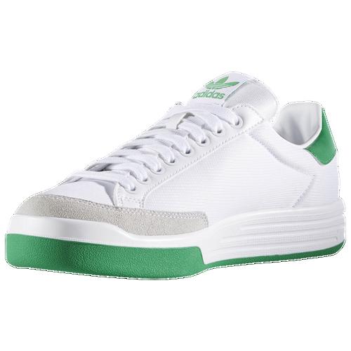 new adidas Originals Rod Laver Super Mens Casual Shoes White White Green 147cd4e67