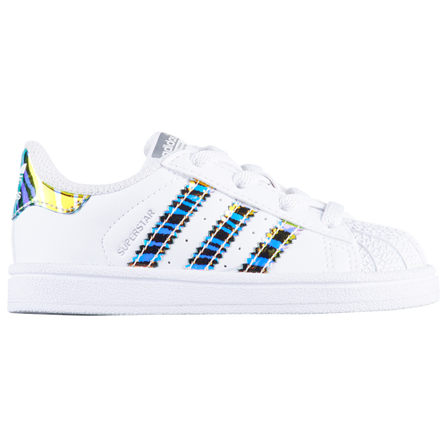 adidas Originals Superstar - Boys' Toddler - Casual - Shoes - White/Black/White/Zebra