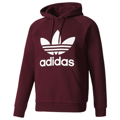 adidas originals trefoil hoodie men 39 s casual clothing burgundy white. Black Bedroom Furniture Sets. Home Design Ideas