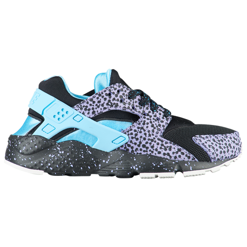 9d67931d63d Nike Huarache Run - Boys' Grade School - Casual - Shoes - Black/Lagoon  Pulse/Purple Pulse