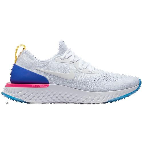 Nike Epic React Flyknit - Women's - Running - Shoes - White/White/Racer  Blue/Pink Blast