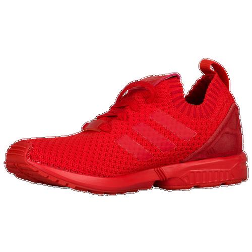 d91885e8eb3b0 new adidas Originals ZX Flux Primeknit Boys Grade School Running Shoes  Red Red Red